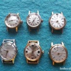 Relojes de pulsera: LOTE DE 6 RELOJES MECÁNICOS PARA DAMA. CERTINA. DUWARD. THERMIDOR. Lote 158655034
