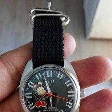 Relojes de pulsera: VINTAGE RELOJ ORIS SUIZO CUERDA MICKEY MOUSE. NUEVO. Lote 158745034