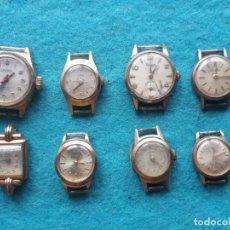 Relojes de pulsera: LOTE DE 8 RELOJES MECÁNICOS PARA DAMA. LANCO. DUWARD, ORIS, RADIANT, NIVADA.... Lote 159036014