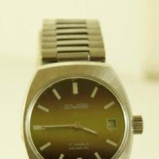 Relojes de pulsera: DUWARD MECANICO NOS FUNCIONANDO ACERO. Lote 159215454