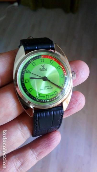 Relojes de pulsera: VINTAGE RELOJ DEPORTIVO CAMY SUIZO CUERDA NUEVO. - Foto 3 - 159348810