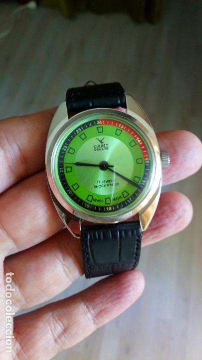 Relojes de pulsera: VINTAGE RELOJ DEPORTIVO CAMY SUIZO CUERDA NUEVO. - Foto 5 - 159348810