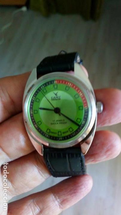 VINTAGE RELOJ DEPORTIVO CAMY SUIZO CUERDA NUEVO. (Relojes - Pulsera Carga Manual)