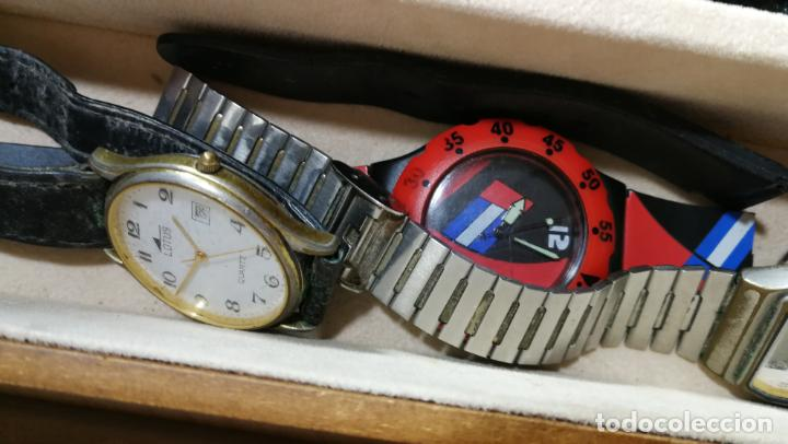 Relojes de pulsera: BOTITO MUEBLE VITRINA DE MADERA DE RAÍZ, MUY COMPACTO. REGALO LOS 45 RELOJES QUE HAY DENTRO - Foto 87 - 159451422