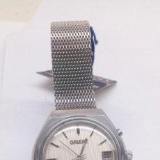 Relojes de pulsera: RELOJ ORIENT MECANICO,PRACTICAMENTE SIN USO ,CON BOTON AYUDA DIA . Lote 159672398