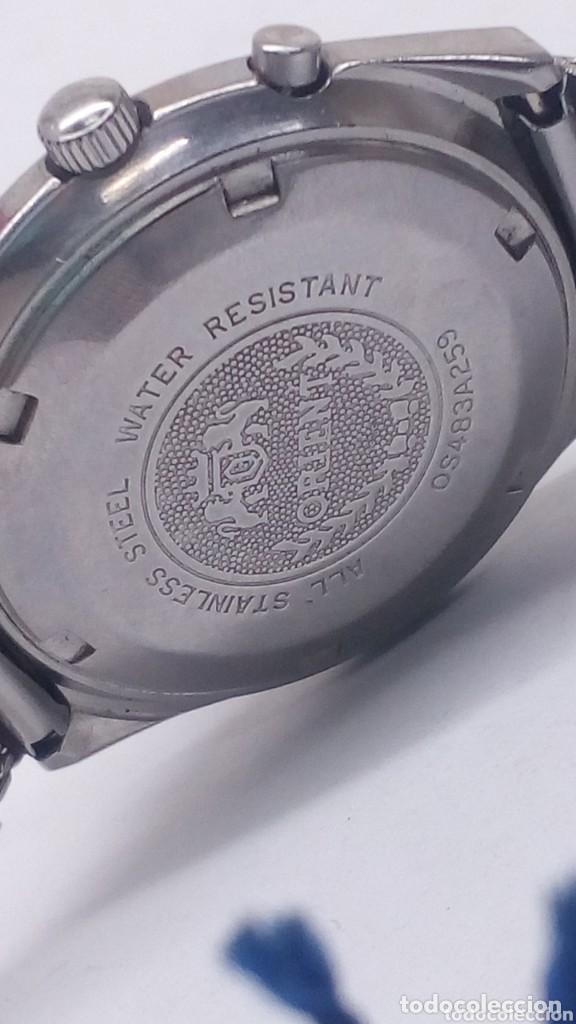 Relojes de pulsera: reloj orient mecanico,practicamente sin uso ,con boton ayuda dia - Foto 2 - 159672398