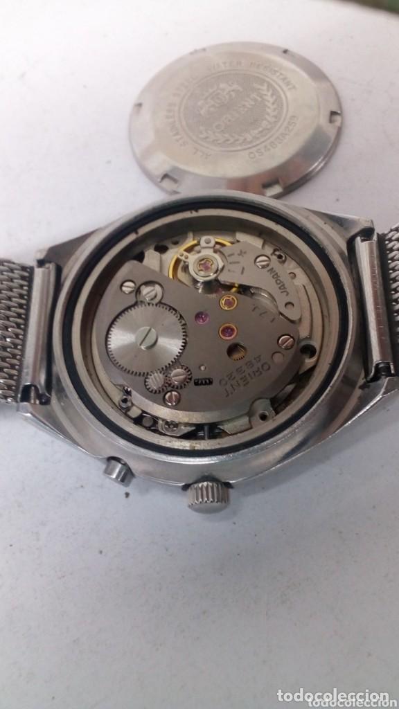 Relojes de pulsera: reloj orient mecanico,practicamente sin uso ,con boton ayuda dia - Foto 4 - 159672398