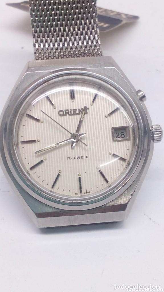 Relojes de pulsera: reloj orient mecanico,practicamente sin uso ,con boton ayuda dia - Foto 6 - 159672398