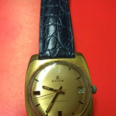 Relojes de pulsera: RELOJ EDOX AUTOMATIC CALENDARIO FUNCIONANDO. Lote 175561225