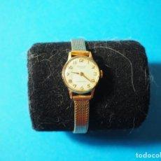 Relojes de pulsera: RELOJ DE SEÑORA RADIANT 17 RUBIES ANTIMAGNETIC CON LA CORREA CHAPADA EN ORO. Lote 160165954