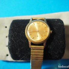 Relojes de pulsera: RELOJ CAUNY PRIMA 17 RUBIES CON LA ESFERA CHAPADA EN ORO. Lote 160168314