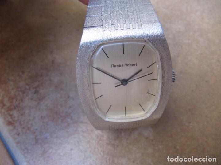 ANTIGUO RELOJ DE CUERDA DE PLATA RENÉE ROBERT (Relojes - Pulsera Carga Manual)