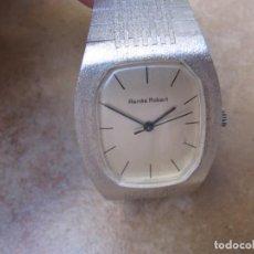Relojes de pulsera: ANTIGUO RELOJ DE CUERDA DE PLATA RENÉE ROBERT. Lote 160679534