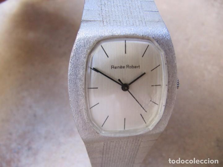 Relojes de pulsera: ANTIGUO RELOJ DE CUERDA DE PLATA RENÉE ROBERT - Foto 2 - 160679534