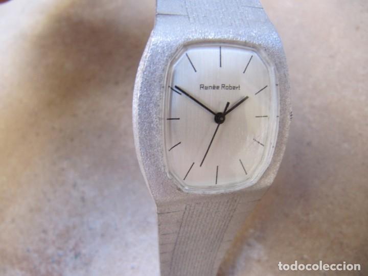 Relojes de pulsera: ANTIGUO RELOJ DE CUERDA DE PLATA RENÉE ROBERT - Foto 3 - 160679534