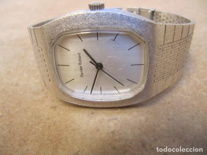 Relojes de pulsera: ANTIGUO RELOJ DE CUERDA DE PLATA RENÉE ROBERT - Foto 4 - 160679534