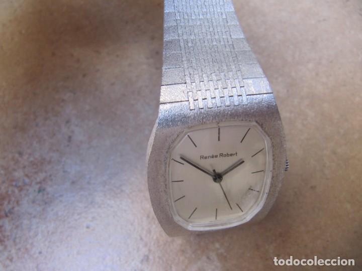 Relojes de pulsera: ANTIGUO RELOJ DE CUERDA DE PLATA RENÉE ROBERT - Foto 5 - 160679534