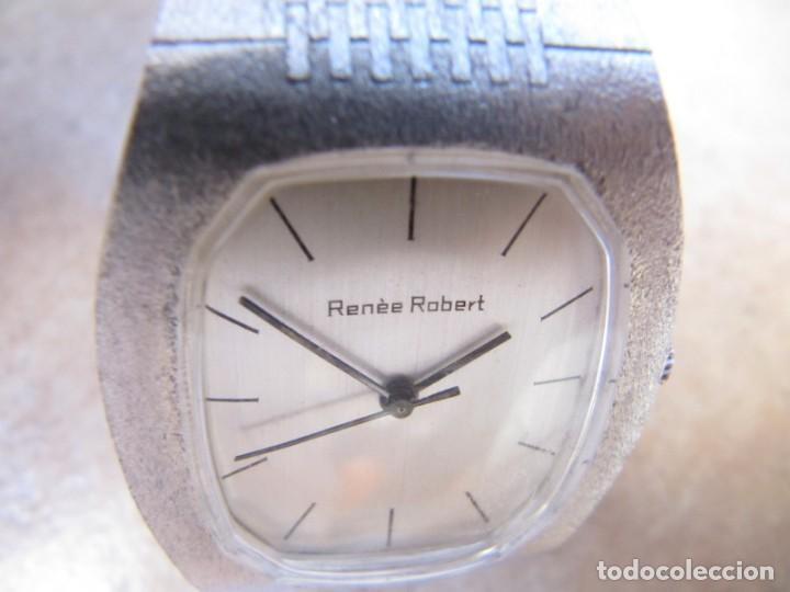 Relojes de pulsera: ANTIGUO RELOJ DE CUERDA DE PLATA RENÉE ROBERT - Foto 6 - 160679534