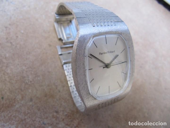 Relojes de pulsera: ANTIGUO RELOJ DE CUERDA DE PLATA RENÉE ROBERT - Foto 7 - 160679534