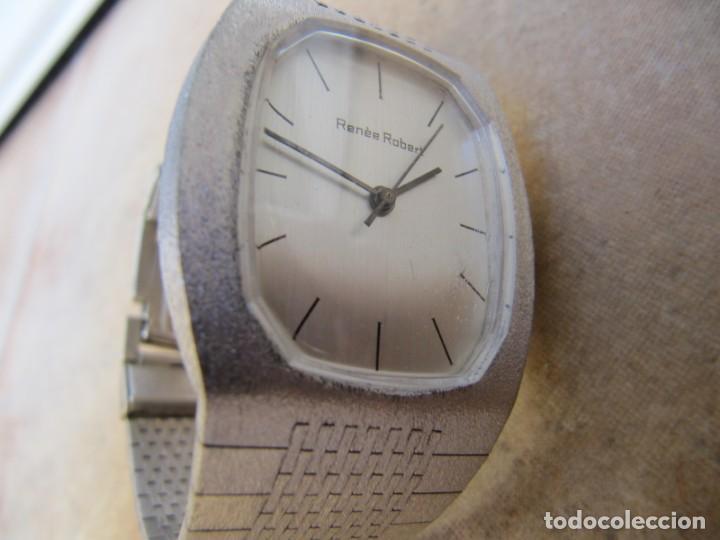 Relojes de pulsera: ANTIGUO RELOJ DE CUERDA DE PLATA RENÉE ROBERT - Foto 9 - 160679534
