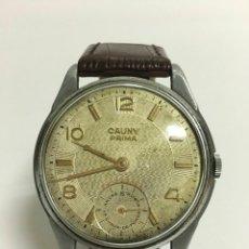 Relojes de pulsera: RELOJ CAUNY PRIMA DE CUERDA DE LOS AÑOS 40-50. Lote 160789621