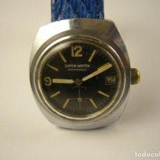 Relojes de pulsera: RELOJ SUPER WATCH, A CUERDA, DE HOMBRE CAL 233-69-A, 32 MM SCC, ANTIGUO, FUNCIONANDO.. Lote 160980006