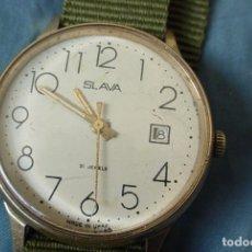 Relojes de pulsera: RELOJ RUSO MECÁNICO SLAVA URSS NUMEROS GRANDES. Lote 161251852