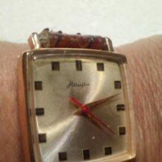 Relojes de pulsera: RELOJ EN ORO DE 14K HAUPU CUERDA MANUAL. Lote 161716374