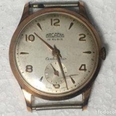 Relojes de pulsera: ORIGINAL ANTIGUO RELOJ PULSERA ARCADIA 15 RUBIS. Lote 161725118