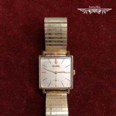 Relojes de pulsera: RELOJ SUIZO DUWARD, A CUERDA. ARMIS FLEXIBLE. CHAPADO ORO DE 10 MICRONES. FUNCIONANDO. Lote 161894322