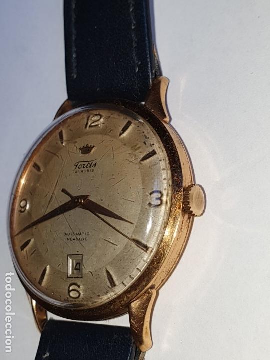 Relojes de pulsera: RELOJ FORTIS 21 RUBI CAJA ORO 18K - Foto 2 - 162467626