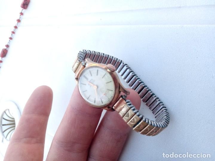 Relojes de pulsera: Reloj dogma antiguo chapado en oro - Foto 2 - 162522986