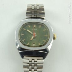 Armbanduhren - Antiguo Reloj Pulsera de Marca Slava con Calendario Años 60 USSR Rusia Carga Manual - 162651814