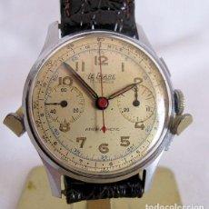 Relojes de pulsera: RELOJ CRONOMETRO LE PHARE LANDERON 48 DE CUERDA. Lote 162726890