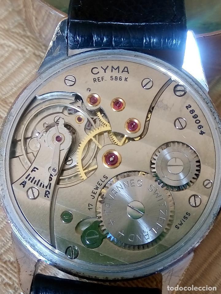 CYMA - MANUAL 1.950. ((( REF- 0586 K ))) FUNCIONANDO. 37.10 S/C. ESF.SERIGRAFIADA Y TEXT. DESCRIP. (Relojes - Pulsera Carga Manual)