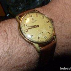 Relojes de pulsera: PRECIOSO RELOJ ZODIAC SWISS MADE CALIBRE 521 CARGA MANUAL 17 RUBIS 39 MMS AÑOS 50. Lote 164978302
