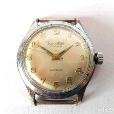 Relojes de pulsera: RELOJ SILVANA VINTAGE SUIZO PARA HOMBRE. Lote 165238910