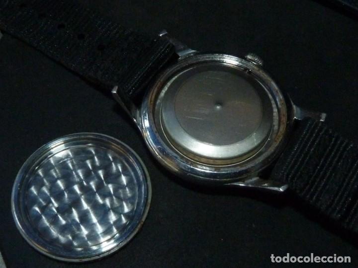 Relojes de pulsera: Precioso reloj KARDEX tipo militar años 50 calibre ETA 2370 swiss made 17 rubis caja acero BAUHAUS - Foto 4 - 96545343