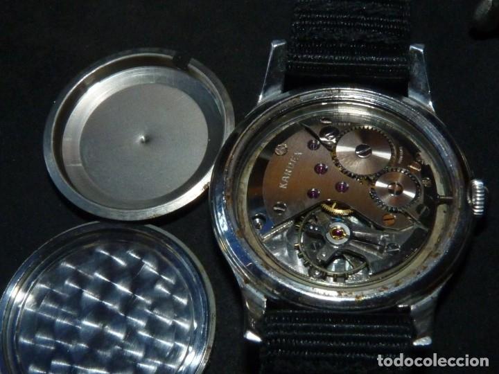 Relojes de pulsera: Precioso reloj KARDEX tipo militar años 50 calibre ETA 2370 swiss made 17 rubis caja acero BAUHAUS - Foto 5 - 96545343