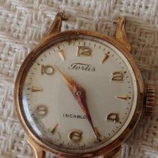 Relojes de pulsera: ANTIGUO RELOJ FORTIS DE SEÑORA PLAQUE ORO 20 MICRAS. Lote 165369642