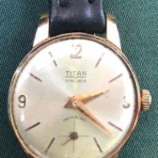 Relojes de pulsera: RELOJ DE MUJER DE CARGA MANUAL TITÁN. CHAPADO EN ORO. Lote 165457029