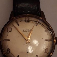 Relojes de pulsera: RELOJ DE PULSERA CABALLERO CARGA MANUAL TITAN. Lote 165531982