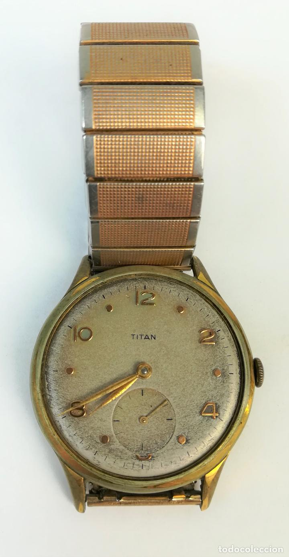 c46ed49be8fd Reloj de pulsera para caballero. Titán. Renfe. Circa 1950. Suiza