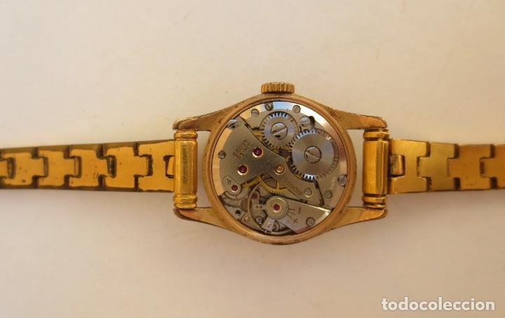 Relojes de pulsera: RELOJ CAUNY PRIMA LADY 17 RUBIS - CHAPADO EN ORO - Foto 4 - 165594554