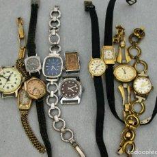 Relojes de pulsera: 11 RELOJES DE CUERDA, 9 FUNCIONAN, UNO AUTOMÁTICO, DE MUJER.. Lote 166279418