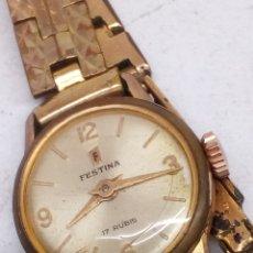 Relojes de pulsera: RELOJ FESTINA CARGA MANUAL CORREA CAHAPADA VINTAGE. Lote 166371805