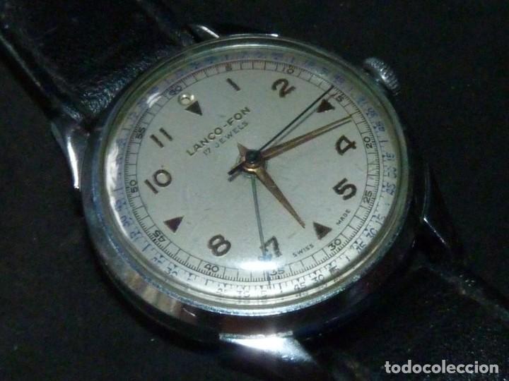 ESCASO RELOJ LANCO ALARMA LANCO-FON CUERDA MANUAL 17 RUBIS AÑOS 50 CLASICO DE COLECCION (Relojes - Pulsera Carga Manual)