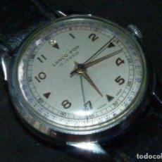 Relojes de pulsera: ESCASO RELOJ LANCO ALARMA LANCO-FON CUERDA MANUAL 17 RUBIS AÑOS 50 CLASICO DE COLECCION. Lote 166710442