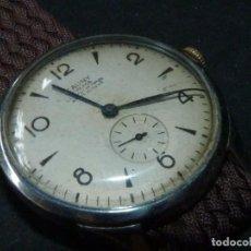 Relojes de pulsera: BONITO RELOJ CAUNY PRIMA TIPO MILITAR SWISS MADE CALIBRE AS168 PRECIOSO 15 RUBIS AÑOS 40. Lote 166712138