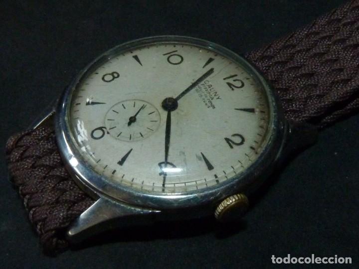 Relojes de pulsera: Bonito reloj CAUNY PRIMA tipo militar swiss made calibre AS168 precioso 15 rubis años 40 - Foto 2 - 166712138